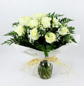 regalar docena rosas blancas precio