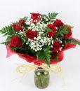 12 rosas rojas para mandar a domicilio