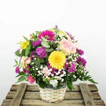 Envio cesta de flores a domicilio