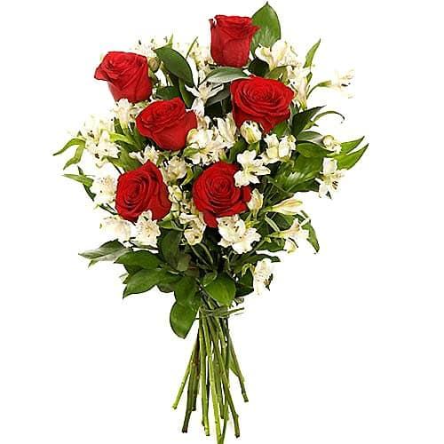 telefloristeria rosas con astromelia