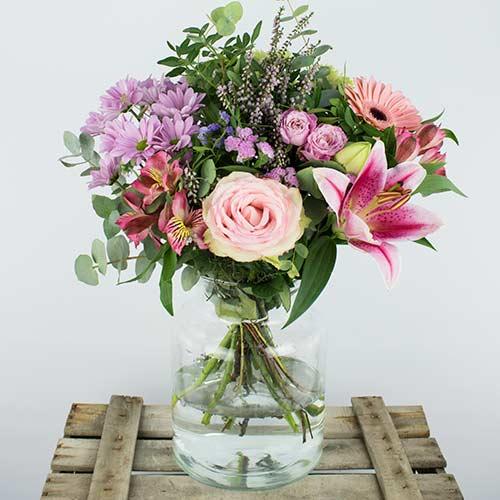 Envio ramo colores rosas a domicilio